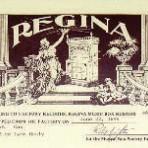 Regina Certificate