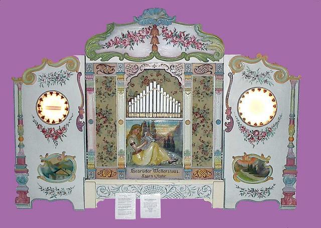 10 ft W x 4 ft D x 7 ft high DeBence Musical Museum