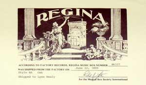 Regina-Certificate